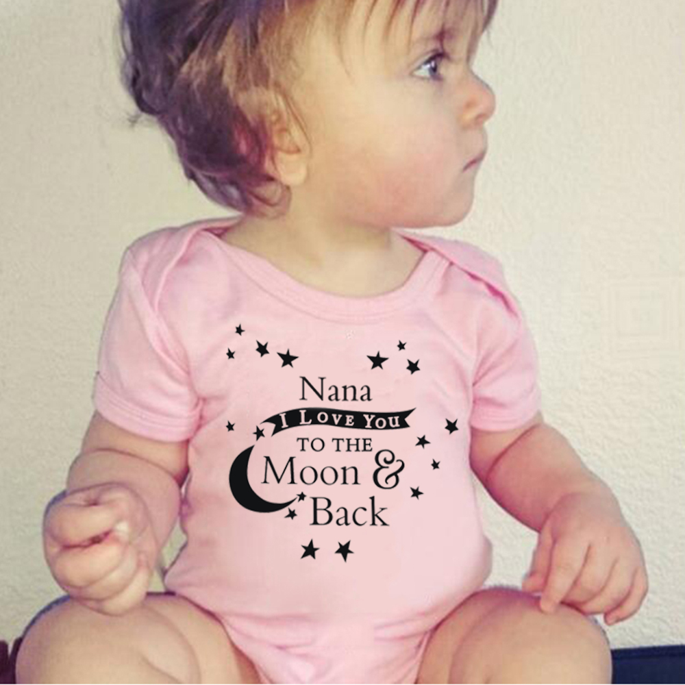 I love NANA to the moon and back Baby Rompers Girl and Boy Short Sleeve Clothing for Newborn Jumpsuits & Rompers Infant clothes
