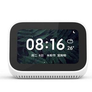 Image 2 - Originele Xiaomi AI Gezicht Touch Screen Bluetooth 5.0 Speaker Digitale Display Wekker WiFi Smart Connection met Video deurbel