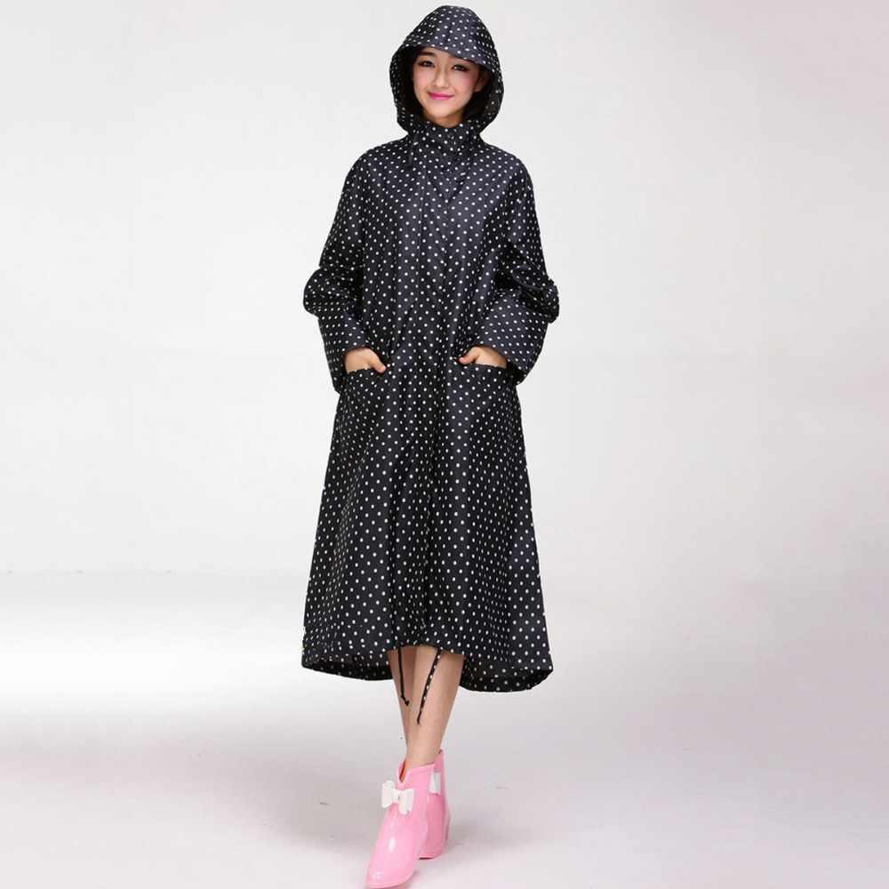 חדש הגעה גדול גודל XXL גברים ונשים קל פונצ 'ו עמיד למים ארוכים מבוגרים חיצוני Windproof גשם מעיל בגדי גשם