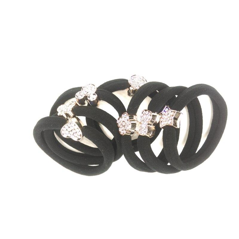 High quality sparkling rhinestones headwear rubber bands hair rope hair bands hair gum