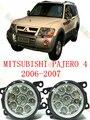 Для mitsubishi PAJERO 4 2006-2015 стайлинга автомобилей светодиодные противотуманные фары лампы Ремонт изменение 12 В 2 ШТ.