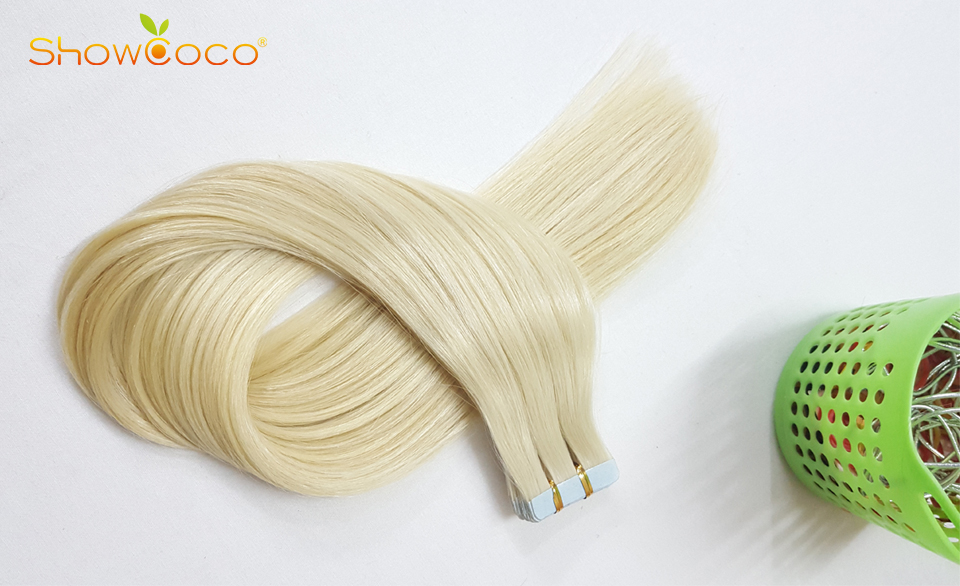 HTB1bEDlV3HqK1RjSZJnq6zNLpXaV - ShowCoco Tape in Human Hair Extensions Natural Real Hair 20/40pcs Machine-made Remy shine Brown to Blonde tape ins