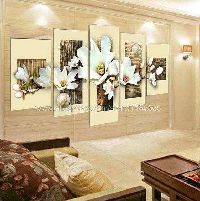 100% Handpainted Modern Flower Oil Painting On Canvas Thick Textured ...