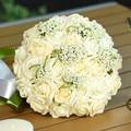 Nueva Llegada de 8 Colores de la boda ramo de Rosas Hechas A Mano Rosas buque de noivas boda flores ramos de novia ramos de novia