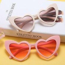 2018 Heart Cat Eye Sunglasses Women Brand Designer Lolita Cute Sun Glasses Ladies Elegant Sexy Eyeglasses for Female n127