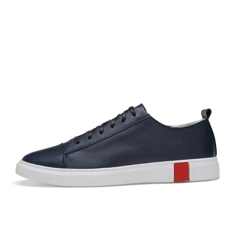 Dos De Up Calçados Sapatos Tamanho Grande Couro Para Heinrich Primavera Homens Casuais azul Genuíno Hombre Zapatos Preto Lace Sneakers Respiráveis outono branco 4XOEgnnw6