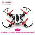 4 pcs Mini Hélices Adereços para Parrot Minidrones Mambo Balanço Pequeno Quadcopter 2-blade