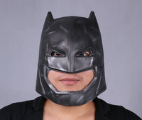 New Batman v Superman Movie Latex Batman Mask Cosplay Costume Comic Halloween Mask