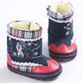 New Arrival Winter Soft Bottom Baby Christmas Print Keep Warmer Cotton Plush Boots For Girls Boys Newborn Infant Toddlers Shoes