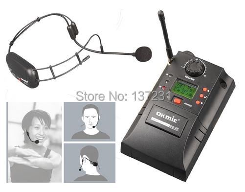OKMIC UHF Wireless headset OK 16 transmitter wireless microphone OK 8R receiver sets Square Dance gym