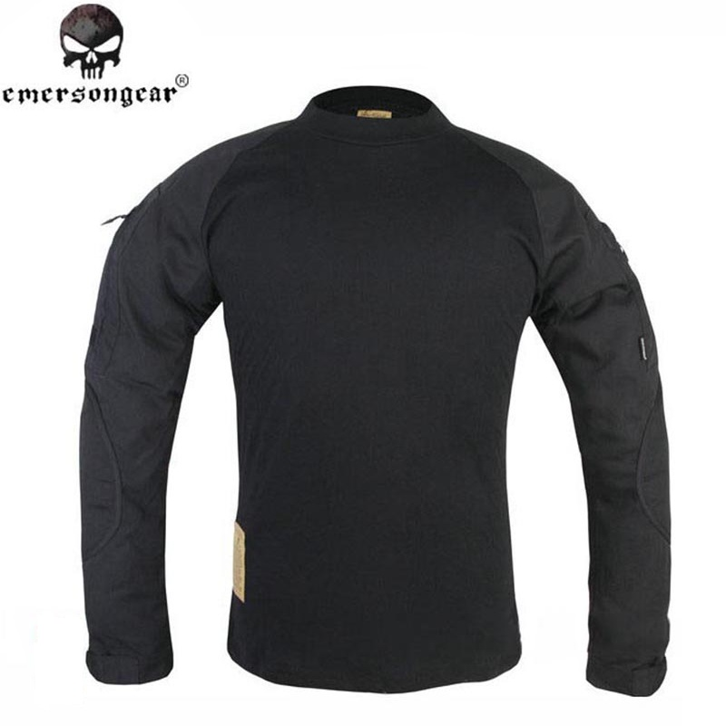 ФОТО Emerson Combat Long Sleeve Tshirt Military Army Airsoft Tactical Gear Uniform Shirt Paintball Hunting Shirts Black EM8518