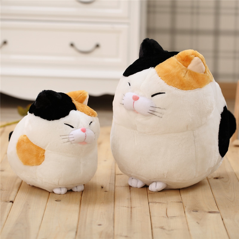 30cm New Hot Steamed Bread Fat Cat Plush Toy Doll Luck Cat Stuffed