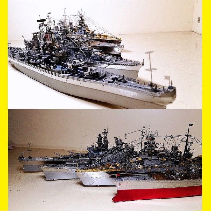 3D Metal Puzzle Warship-Model Uss Enterprise Battleship Destroyer-Type Bismarck Yamato