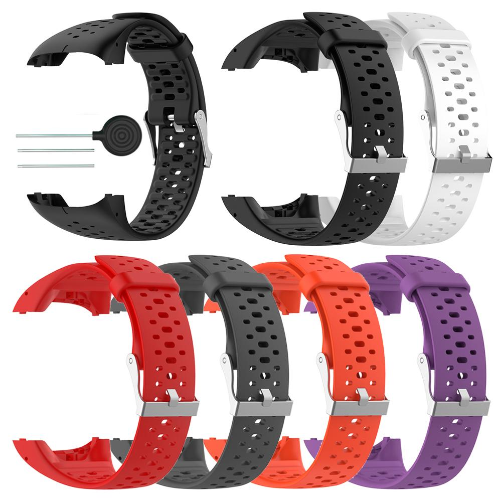 Silicone Replacement Watch Band Strap Wrist Band for Polar M400 M430 GPS Running Smart Sports Watch Wrist Strap With Tools silicone watch band wristband bracelet replacement for polar m400 m430 gps watch