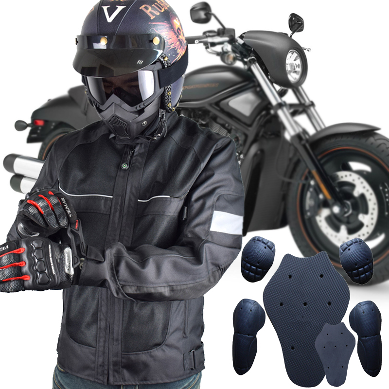 LYSCHY Motorcycle Jacket Mens Chaqueta Moto Verano Breathable Jaqueta Motoqueiro Motocross Jacket Protection Racing Riding Black цена