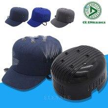 Yeni iş güvenlik sert yumru şapka kask beyzbol şapkası tarzı koruyucu sert PP şapka iş için fabrika mağazası taşıma kafa koruma