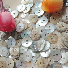 100 pcs/lot  10mm fashion natural White mother of pearl shell button with 2 holes shirt Sewing Scrapbooking