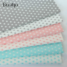 Tela de sarga de algodón con estampado de estrellas para ropa de cama de manualidades, tela de costura de patchwork y telas de moda para confección de ropa
