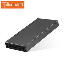 Tollcuudda металлический корпус Запасные Аккумуляторы для телефонов Портативный Зарядное устройство 10000 мАч внешний Батарея Мощность Bank Dual USB для всех телефонов повербанк 2 цвета
