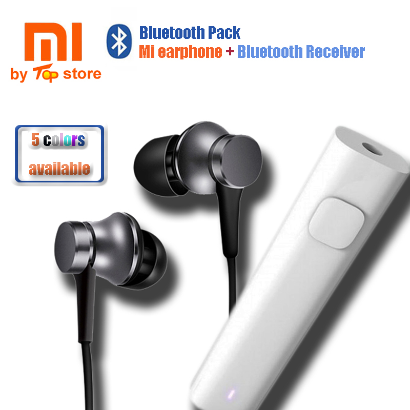 2017 Original Xiaomi Xiomi MI Bluetooth Sport Pack Piston 3 Earphone With Bluetooth Converter Receiver For