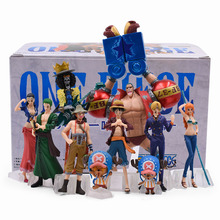10Pcs Japanese Anime One Piece PVC Action Figure Collection Toys luffy Nami Roronoa Zoro Hand-Done Dolls For Kids Christmas Gift 100% original banpresto memory figure collection figure roronoa zoro from one piece