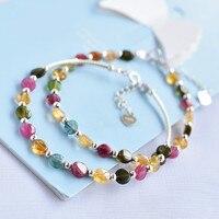 Brilliant 925 Silver Bracelet Rainbow Brilliant Korean Edition Simple Individual Boudoir Crystal Single