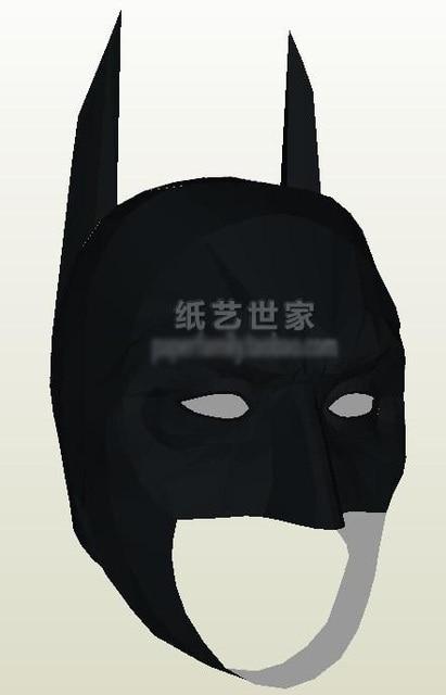 Visera de casco de Batman 1: 1 modelo de papel 3D portátil cosplay DIY puzles