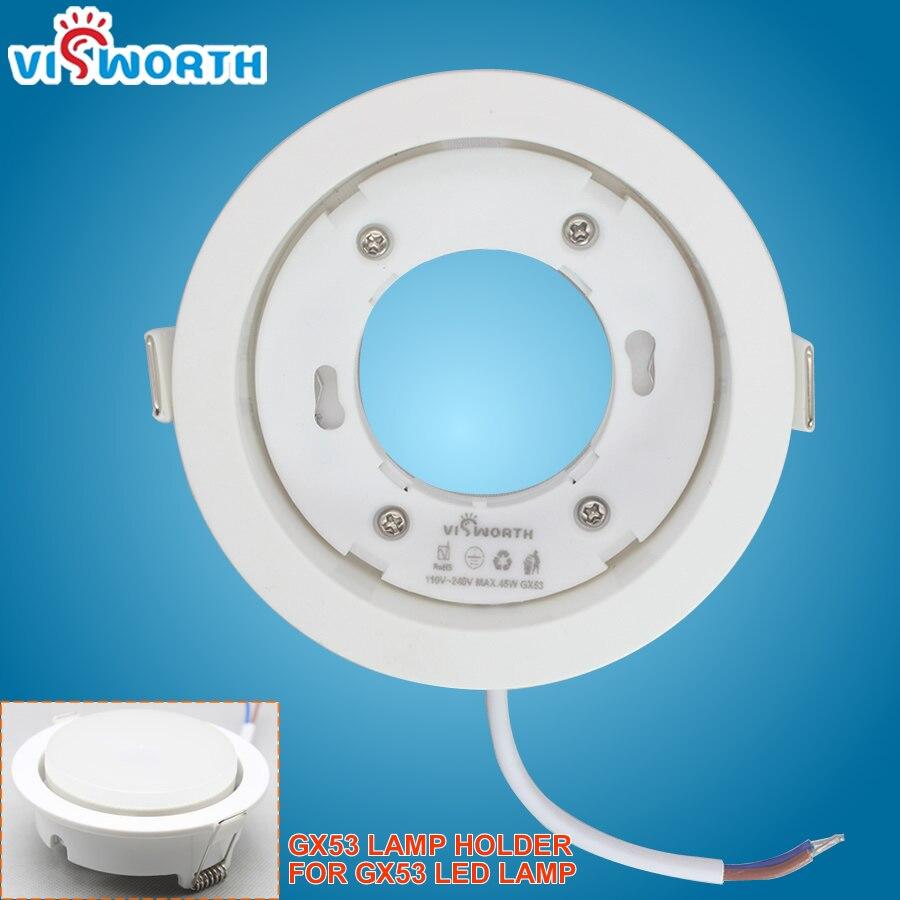 High Quality Led Bases Gx53 Led Lamp Holder For Gx53 Light White Body