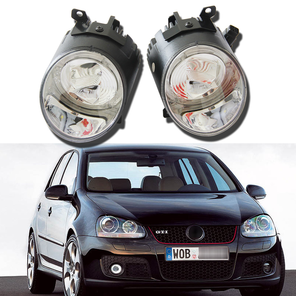 2pcs Auto Car Fog Light Lamb LED Daytime Running Light Headlight External Light For Volkswagen Golf 5 GTI Amarok Jetta Scirocco 2pcs car styling auto no error under mirror led puddle light lamp for volkswagen vw golf mk6 gti touran 2011 white accessories