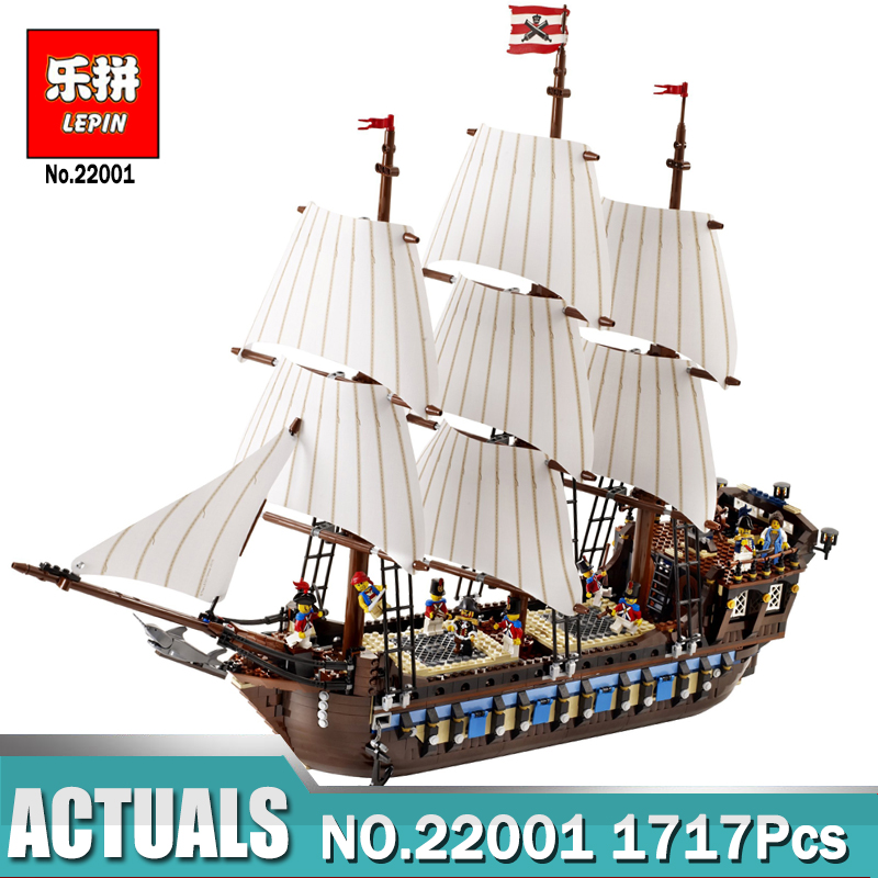New Lepin 22001 in Stock Pirate Ship Imperial warships Model Building Kits Block Briks Toys Gift 1717pcs Compatible legoed 10210 in stock new lepin 22001 pirate ship imperial warships model building kits block briks toys gift 1717pcs compatible10210