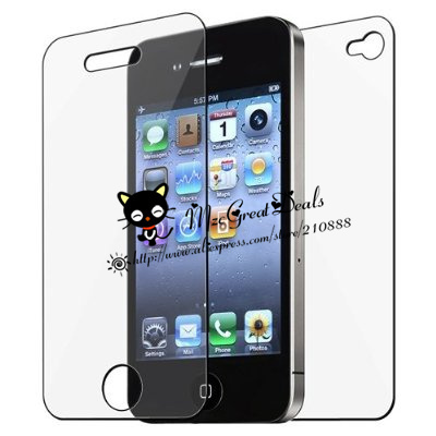 Front and Back Reusable Screen Protector for Apple iPhone 4/4s