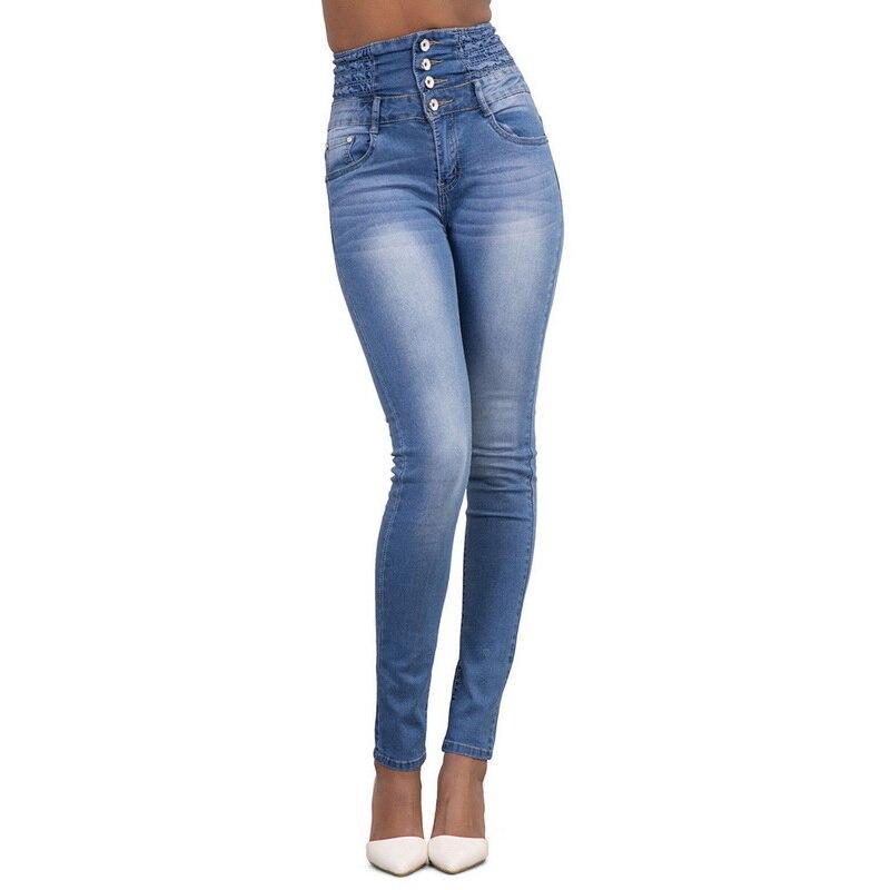 b88171e8a5fb7 Aliexpress.com  Comprar Litthing 2019 primavera y otoño de las mujeres  Skinny luz lápiz pantalones vaqueros Stretch Slim de cintura alta en  bolsillos de ...