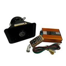 Car Modification 200W 12V Police Siren AS920 Gold Amplifier Plastic Fat Speaker Car Siren Full Set Alarm Horn Loudspeaker