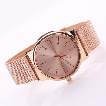 Geneva Rose Gold Stainless Women's Watches