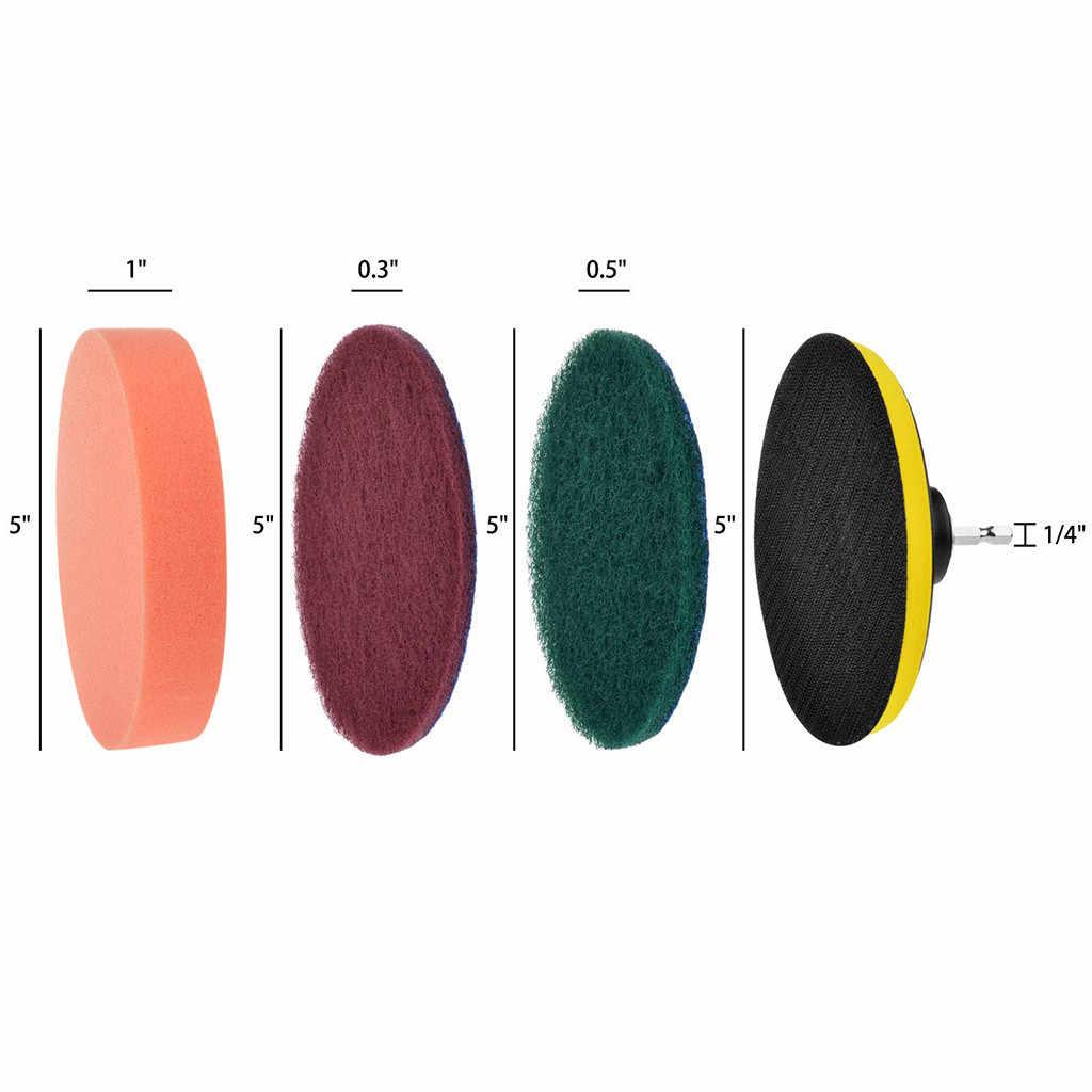 Broca Escova Scrub Pads 8 Pedaço Poder Furadeira sem fio Lavagem Purificador Kit de Limpeza para Todos Os Fins Mais Limpo para a Limpeza Pool9.71