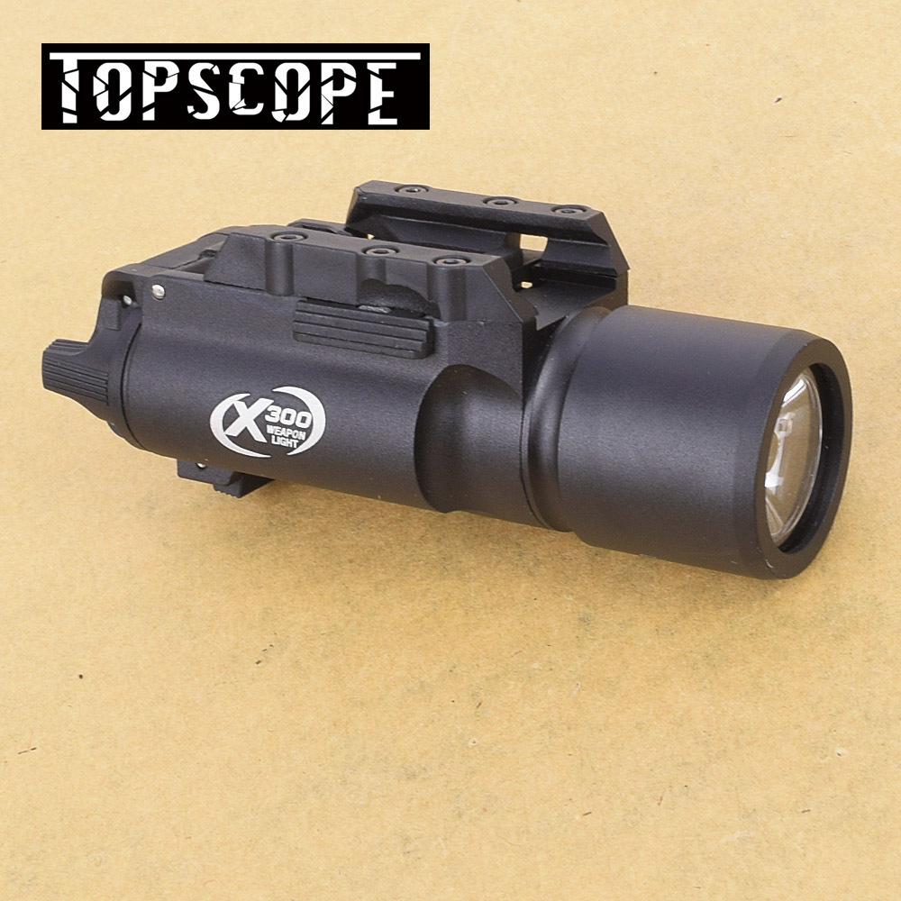 Tactical X300 luz pistola 500 lúmenes de salida de alta linterna arma ajuste 20mm Picatinny carril del tejedor