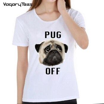 Women tops Summer 2019 Funny Pug face emoji Print TShirt Female White Camisetas frenchie T Shirt French Bulldog Hipster tshirt