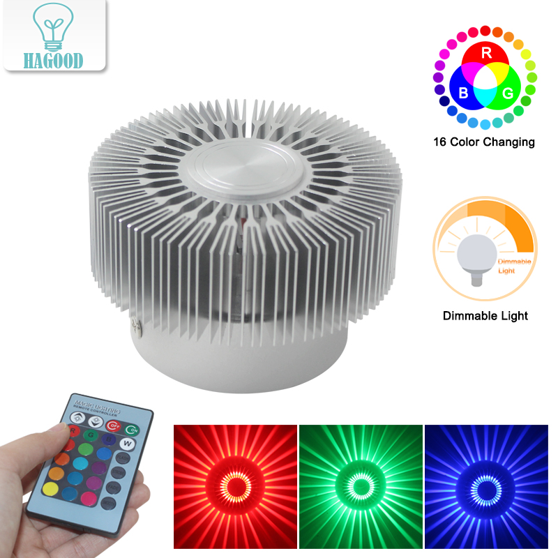 Modern Aluminum 3W RGB LED Wall Lamp Novelty Sunflower Wall Sconce for KTV Bar Ceiling New Year Decoration AC85-265V led ceiling lighting 85 265v lantern led ceiling lamp 3w ktv bar decoration corridor lights hallway lamp free shipping