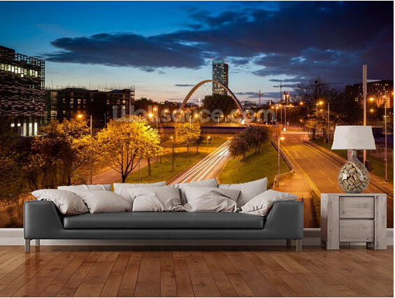 Custom landscape wallpaper,Manchester skyline,3D photo city for the living room bedroom kitchen wall waterproof vinyl wallpaper клавиатура проводная oklick 190m usb черный 945657