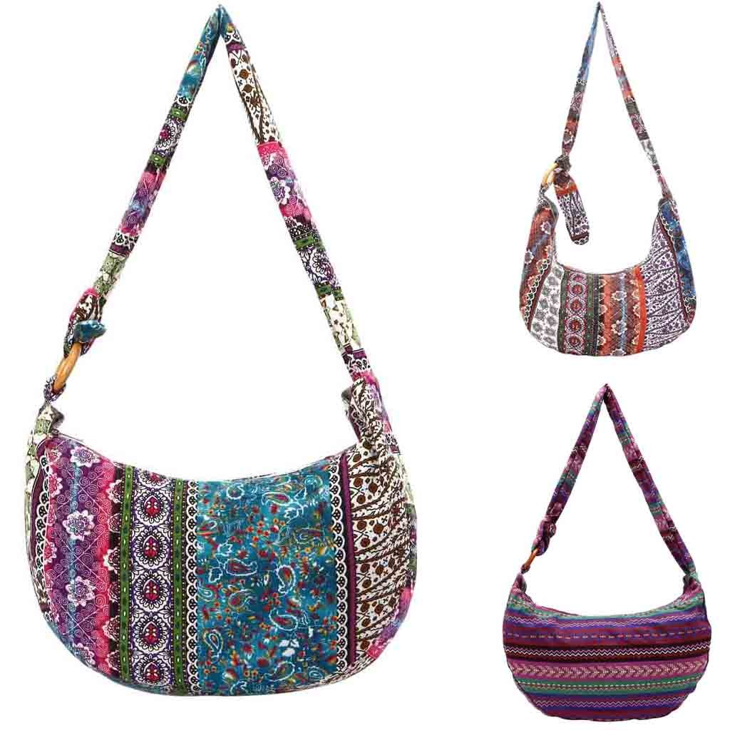 Ethnic Style Canvas Floral Folk-custom Women Cloth Bag For Ladies New Style  Hand Bag 43ede220f162a