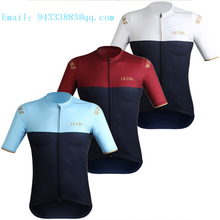LE COL men women short sleeve jersey 2019 summer motocross cycling sweatshirt MTB bike team equipment quick dry tights selling