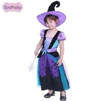 Erapinky 2018 Halloween Cosplay Dress For Kids Girls Fashion Patchwork Mesh Lace Party Dress Children Clothing Costumes 5T 12T