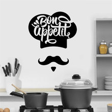 Factory Direct Bon Appetite Chef Cook Kitchen Wall Stickers Vinyl Home Decor Restaurant Dining Hall Decal Removable Mural 3157 cook william wallace the fiction factory