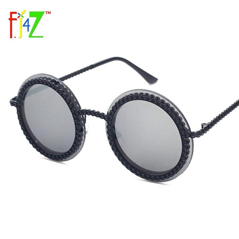 F.J4Z 2017 Módní Retro Návrhář Ženy Kulaté Kruhové Brýle Klasický Falešný Kamenný Rám Oční Stíny Brýle UV400
