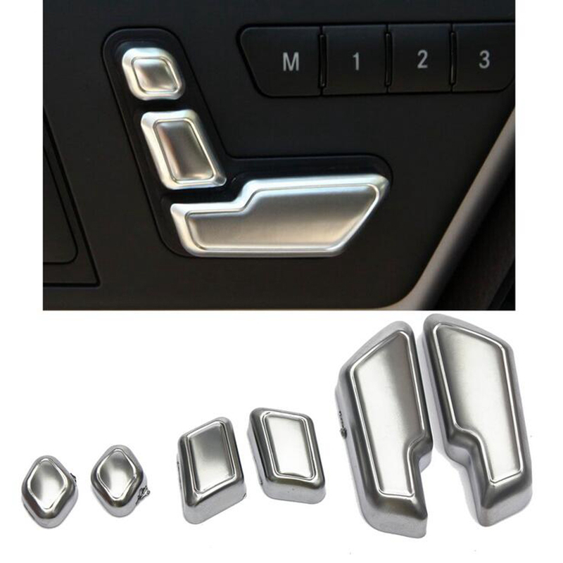 AUDEW Chrome Seat Adjust Button Switch Cover for Mercedes-Benz E- EW212 w218 CLS X166 GL Class Door Adjustment Button Styling