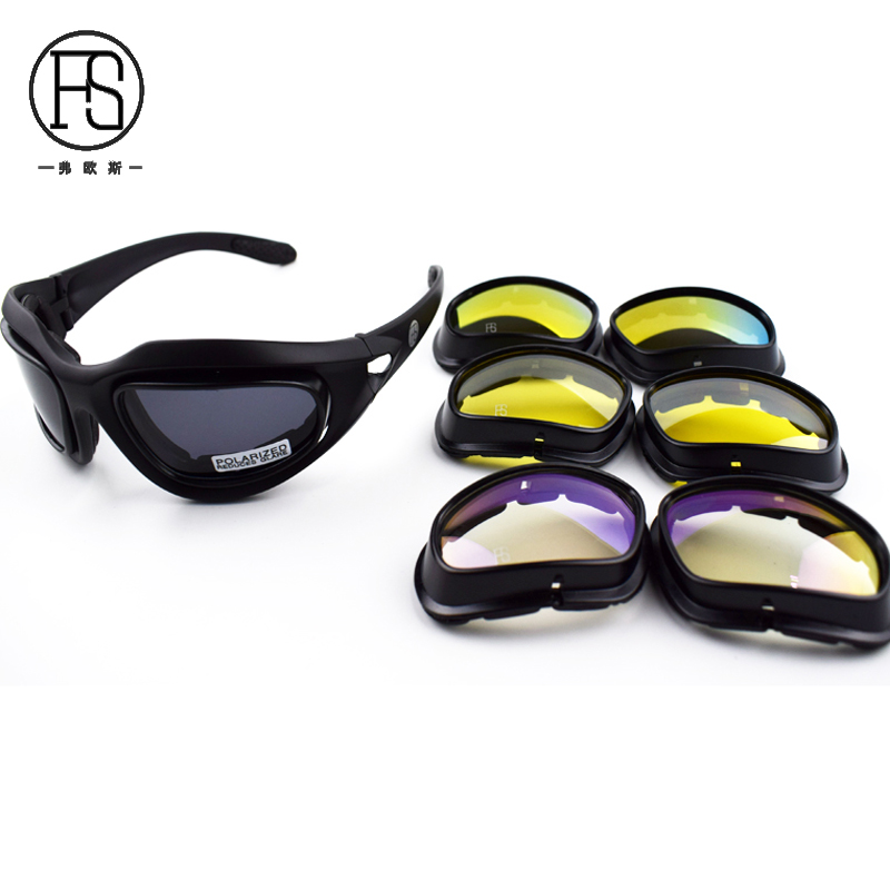 930418770150be Populaire C5 Hommes de lunettes de Soleil Polarisées Tactique Tir Lunettes  En Plein Air UV Protection Randonnée Escalade Lunettes