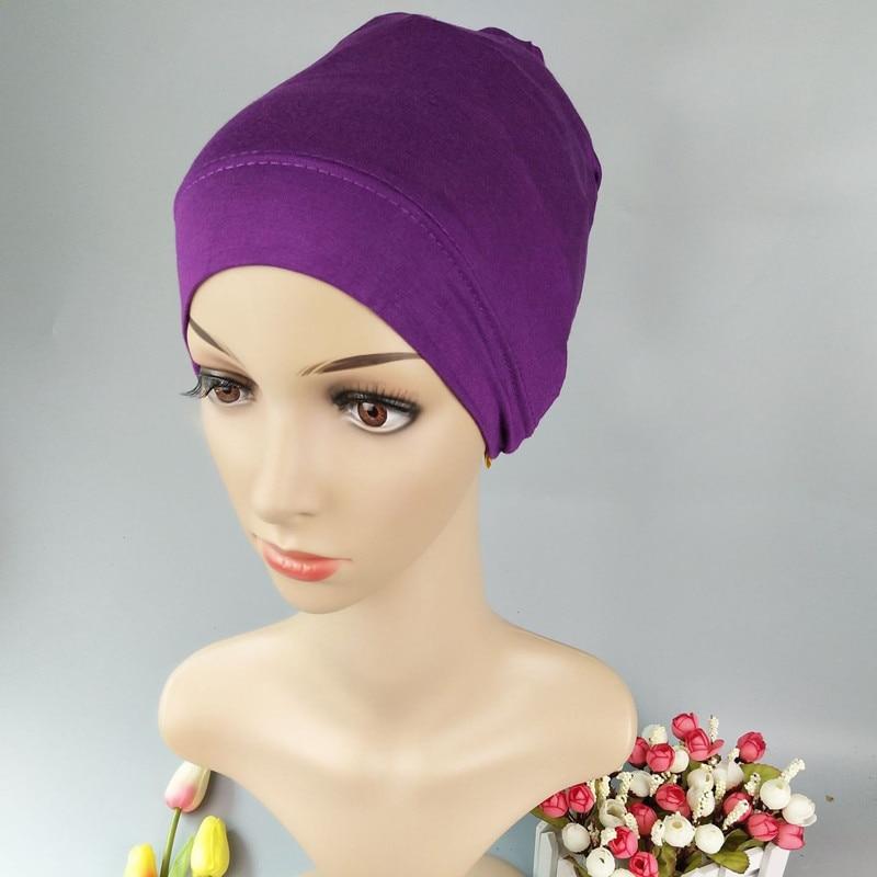 Muslim Cotton Inner Ninja Scarf  Islam Inner Hijab Instant  Bonnet Hijab Islamic Cap Muslim Cotton Jersey Hijab Turban