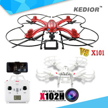 Original MJX X102H Big Quadcopter RTF RC Helicopter 2.4G 4CH 6-Axis Drone Gopro Can Add FPV Wifi Camera HD VS MJX X101 Rc Dron