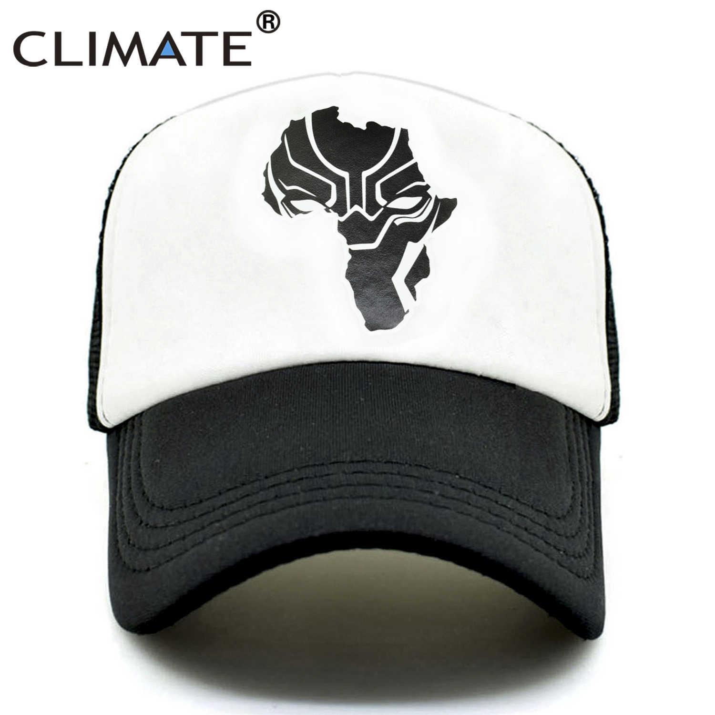 huge selection of 0e6d9 1b122 CLIMATE Wakanda Black Panther Caps Hat Men Women Trucker Cap Cool Summer  Caps Super Hero Adjustable