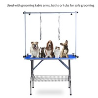 36 Inch Table Folding Adjustable Height Arm Non Slip Heavy Duty Dog Pet Grooming Bath Table With Clip Rope Noose Pet Accessories